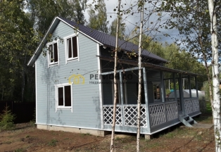 Новый дом в окружении грибного леса
