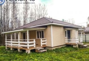 Одноэтажный дом для постоянного проживания в Калужской области