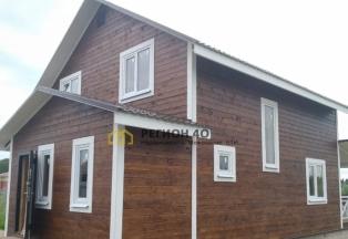 Продается новый дом от застройщика, со всеми коммуникациями для круглогодичного проживания, площадью 140 кв. м.