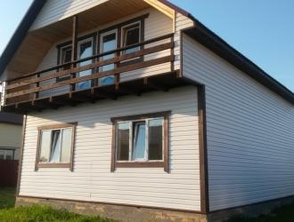 Добротный уютный дом с газом, около большого озера и леса около Новой Москвы, до 70 км от МКАД по Киевскому Варшавскому шоссе