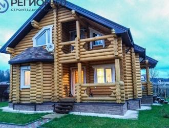 865, Дом из бревна для проживания в окружении леса и охраняемом поселке