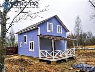 950, Продается новый дом 115 м² до 83 км по Варшавскому шоссе и до 85 км по Киевскому шоссе от МКАД в Калужской области Жуковский район СНТ Дубрава-2.